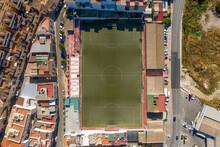 Coin, 13 August 2020: Aerial View Of Soccer Field, Coin, Malaga, Spain