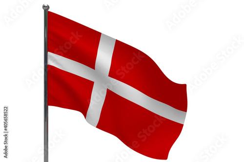 Wallpaper Mural Denmark flag on pole icon