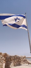 Israeli Flag Against Clear Blue Sky