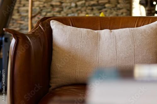 Fototapeta Close-up Of Sofa At Home obraz
