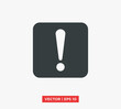 Exclamation Mark Icon Vector Illustration Design Editable Resizable EPS 10