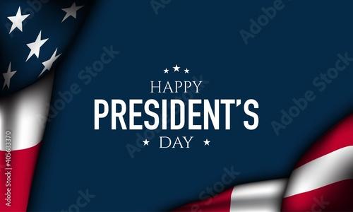 Cuadros en Lienzo President's Day Background Design. Vector Illustration.