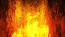Hell Gates. Hell Fire. Devil Portal. Sinner. Religious Concept. 3d Rendering.