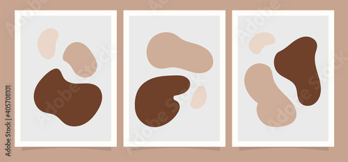 Fototapeta Boho Abstract design background.  for print, cover, wallpaper, Minimal and natural wall art. Vector illustration. obraz na płótnie