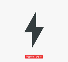 Lightning Electric Icon Vector Illustration Design Editable Resizable EPS 10