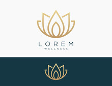 Lotus Logo Icon Vector Illustration Design Editable Resizable EPS 10