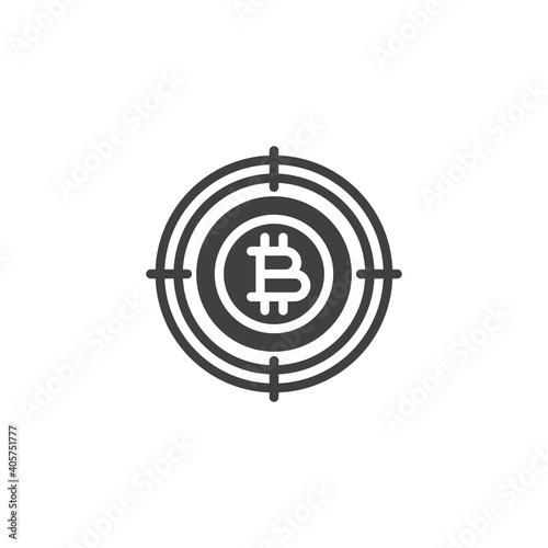 Obraz na plátně Bitcoin Target vector icon