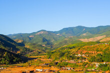 View Of Sapan Village During Cold Season In Nan Province Of Thailand