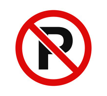 No Parking Sign Symbol Icon Vector Illustration Design Editable Resizable EPS 10