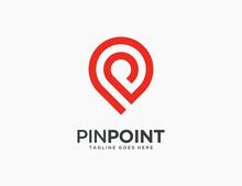 Pin Point Logo Template Icon Vector Illustration Design Editable Resizable EPS 10