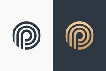 Letter P Logo Template Design Vector Illustration Design Editable Resizable EPS 10