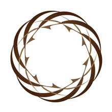 Abstract Circular Spiral Transitions With Brown Color