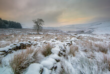 Winter Landscape Scenery Around CCalderdale In West Yorkshire