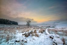 Winter Landscape Scenery Around CCalderdale In West Yorkshire