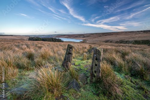 Canvas Print Scenery along the Pennine Way at Calderdale, West Yorkshire