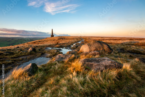 Scenery along the Pennine Way at Calderdale, West Yorkshire Wallpaper Mural