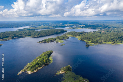 Fotografija Ladoga skerries in the summer the view from the top