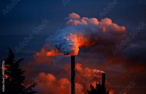 smoke from the chimney Fototapet