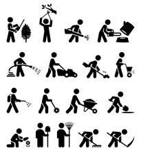 Property Maintenance Landscaping Icon Set
