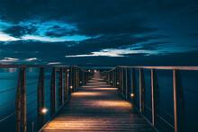 Bridge At Night, Lesina, Italy