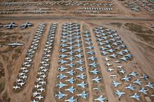 Aircraft Graveyard, Planes Await Their Dismantling