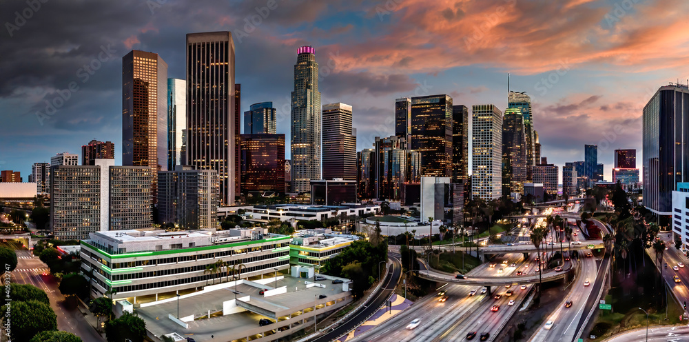 Fototapeta Downtown Los Angeles skyline