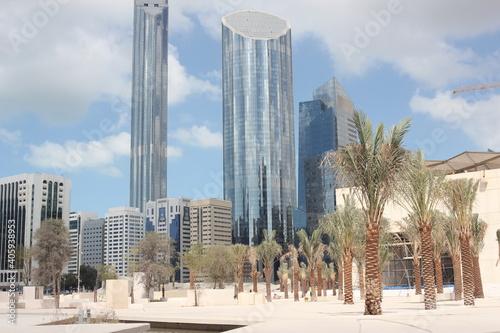 Fotografie, Obraz palm oasis in Abu Dhabi town centre