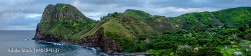 Fotografia Panoramic View Of Sea And Mountains Against Sky