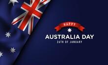 Australia Day Background Design. Vector Illustration.