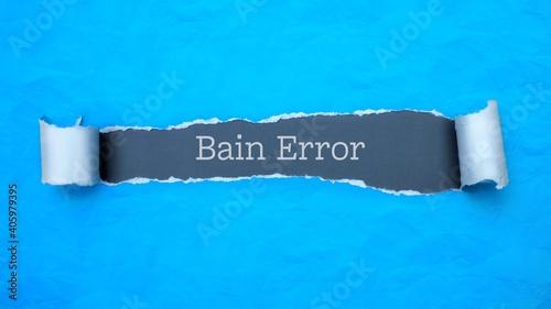 Billede på lærred Bain Error