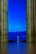 Leinwandbild Motiv Reflection Of Buildings In Sea