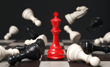 Business Concept Strategy Of Red Chess Game
