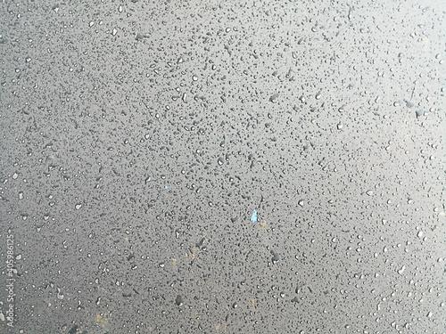 Canvas Full Frame Shot Of Wet Road In Rainy Season