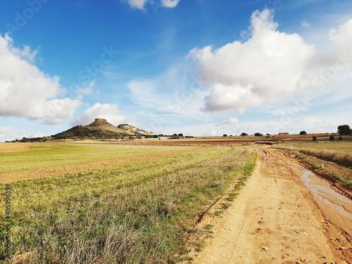 Panoramic View Of Dirt Road Against Sky