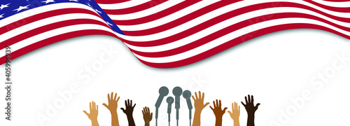 Vector illustration Martin Luther King Day greeting card - American flag abstrac Fototapet