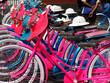 Leinwandbild Motiv High Angle View Of Bicycles Parked In Basket