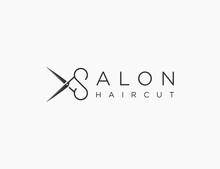Salon Haircut Logo Template Design Vector Design Editable Resizable EPS 10