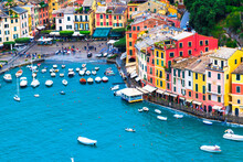 Landscape Portofino Famous Small Town At Italy.