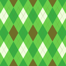 Abstract Light Green And Brown Tartan Many Square Pattern With Geometric Square Texture Overlay.