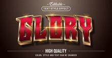 Editable Text Style Effect - Glory Text Style Theme.
