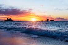 Sunrise Over The Mediterranean, Landscape Photo