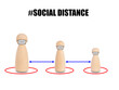 Social distancing concept keep distancing from people to protect yourself and another people from COVID-19 outbreak spreading for pass together.