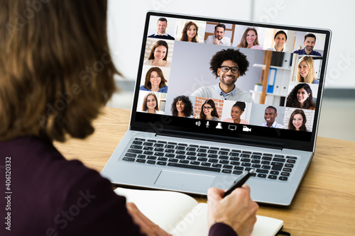 Canvas Print Online Video Conference Webinar Meeting Call