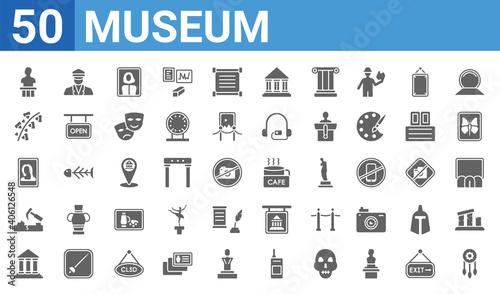 Valokuva set of 50 museum web icons