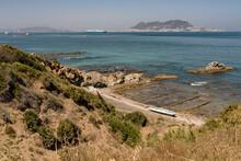 High Angle Shot Of The Cala De La Mozilla Shore In Spain