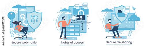 Fotografie, Obraz Secure data transmission concept
