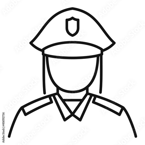 Fototapeta Woman policeman icon