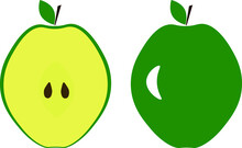 Two Halves Of An Apple