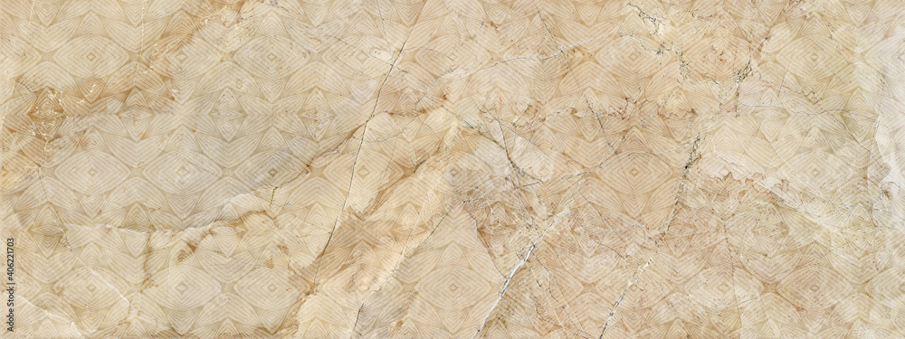 Fototapeta seamless patterned background with stone marble texture in beige tones