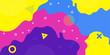 Background modern design, Memphis pattern, vector color doodle shapes